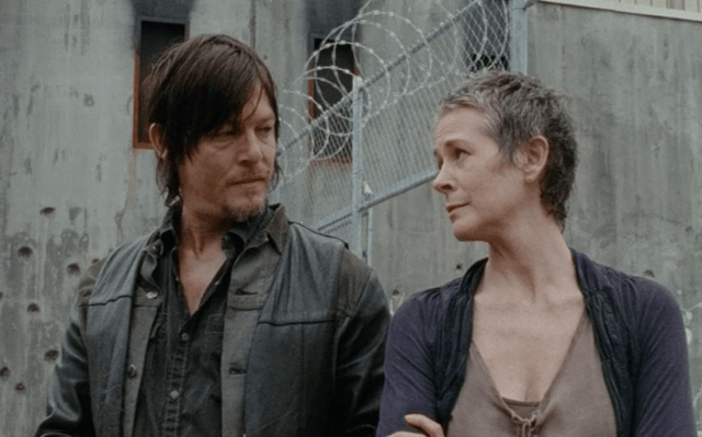 Daryl looks at Carol in a scene from 'The Walking Dead' episode '30 Days Without an Accident'
