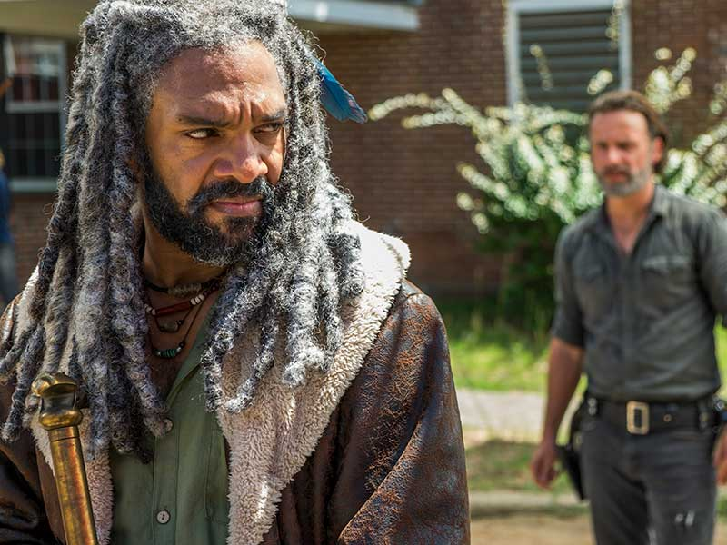 Rick and Ezekiel on The Walking Dead