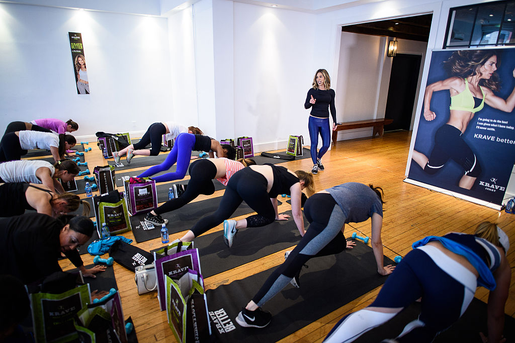 Team KRAVE member and health and wellness expert Jillian Michaels hosted a fitness workout