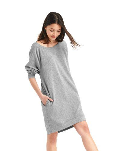 French terry sweater dress