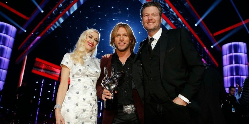 Gwen Stefani, Craig Wayne Boyd, Blake Shelton on The Voice.