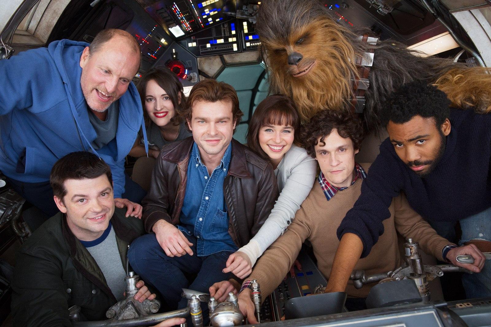 Han Solo cast photo