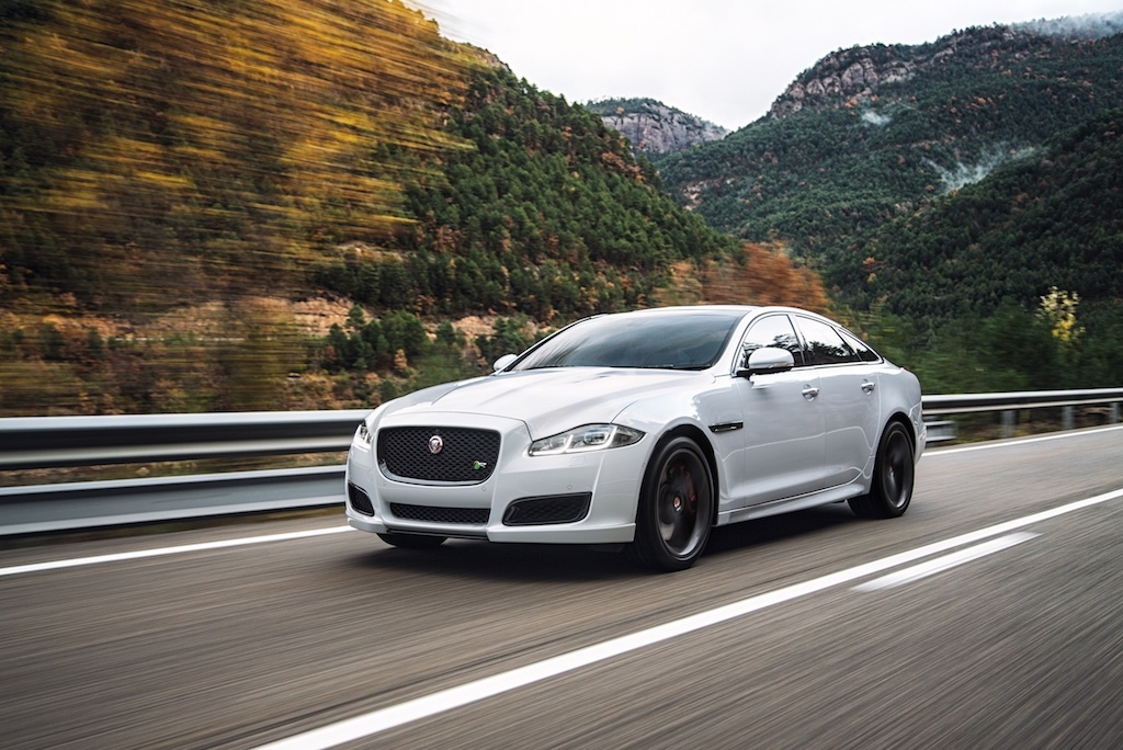 A white 2016 Jaguar XJR
