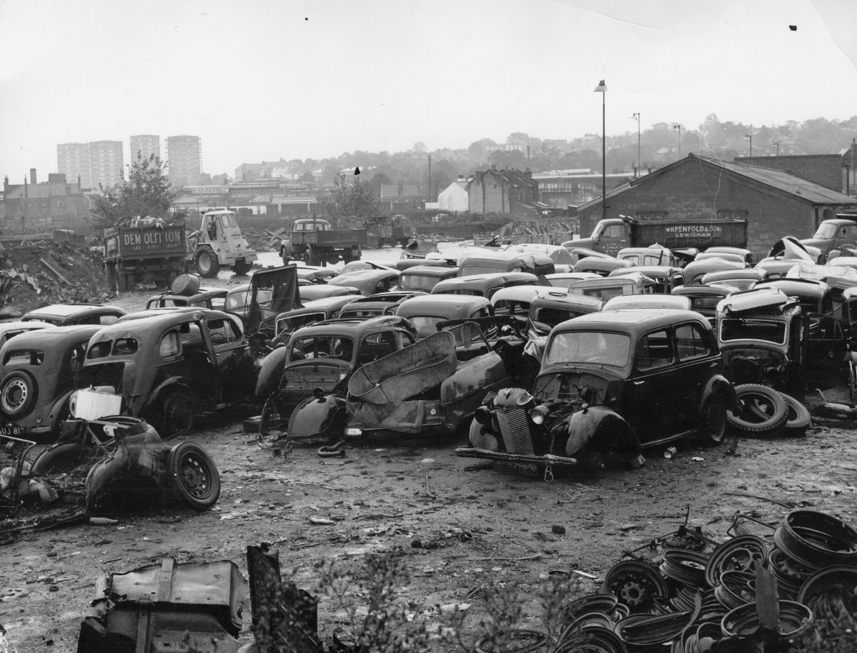 A junkyard filled with scrapped cars, a metaphor for what could happen to consumer protections if Dodd-Frank is repealed