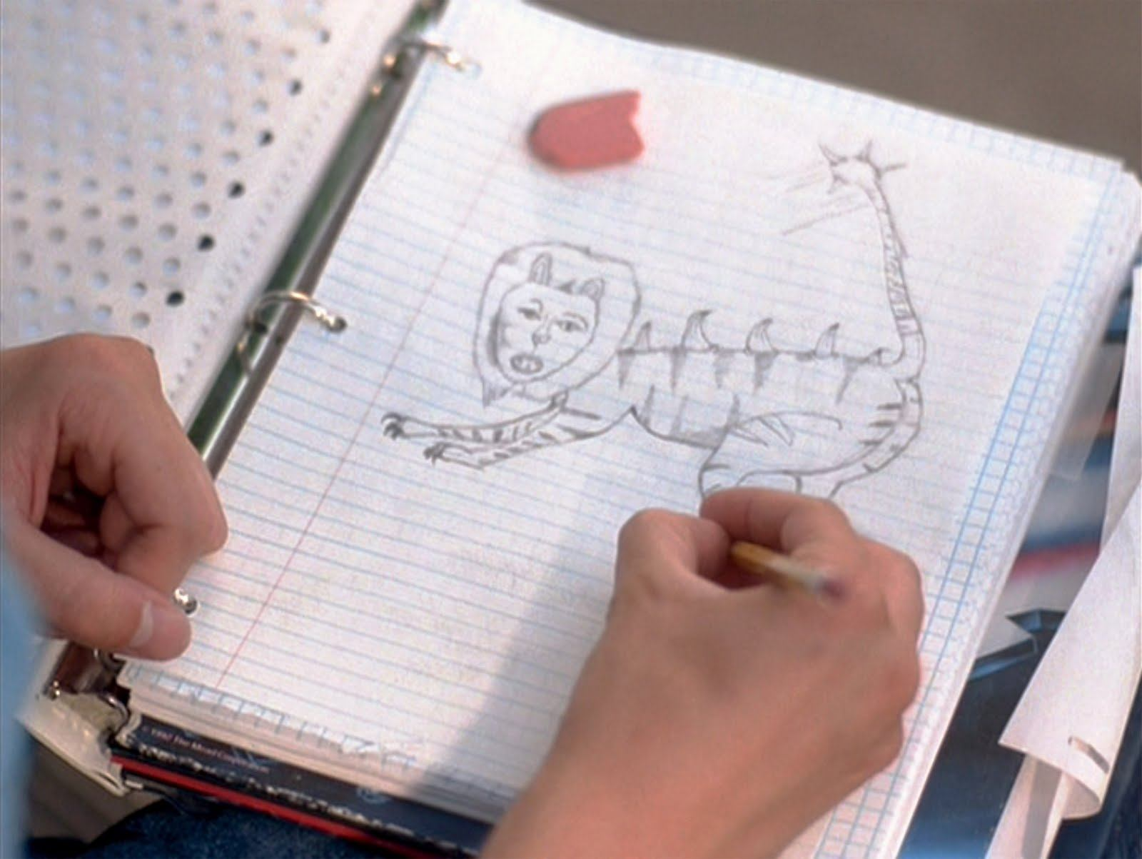 A liger as drawn by the title character in Napolean Dynamite   MTV Films