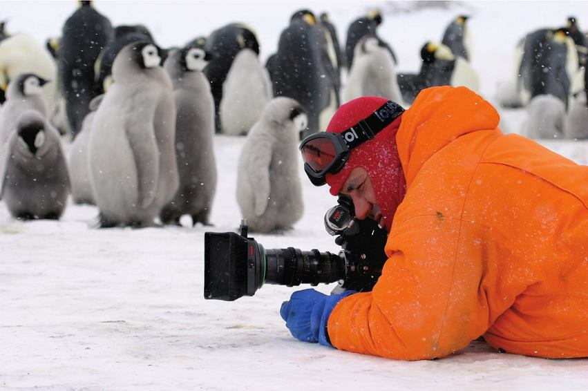 Filming March of the Penguin