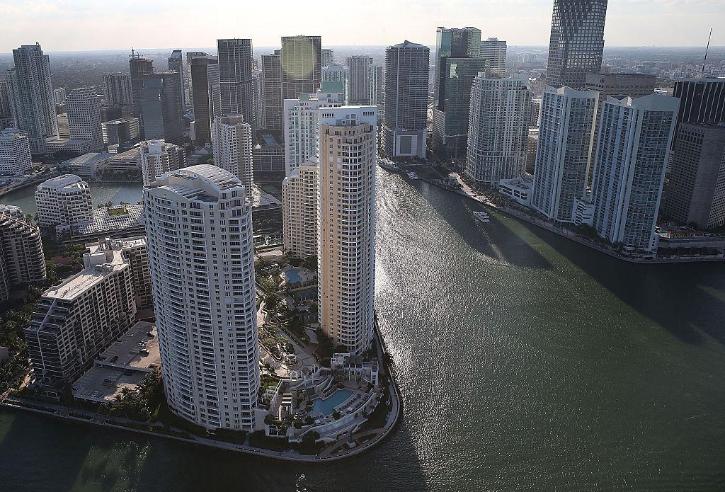 Condo buildings in Miami, Florida