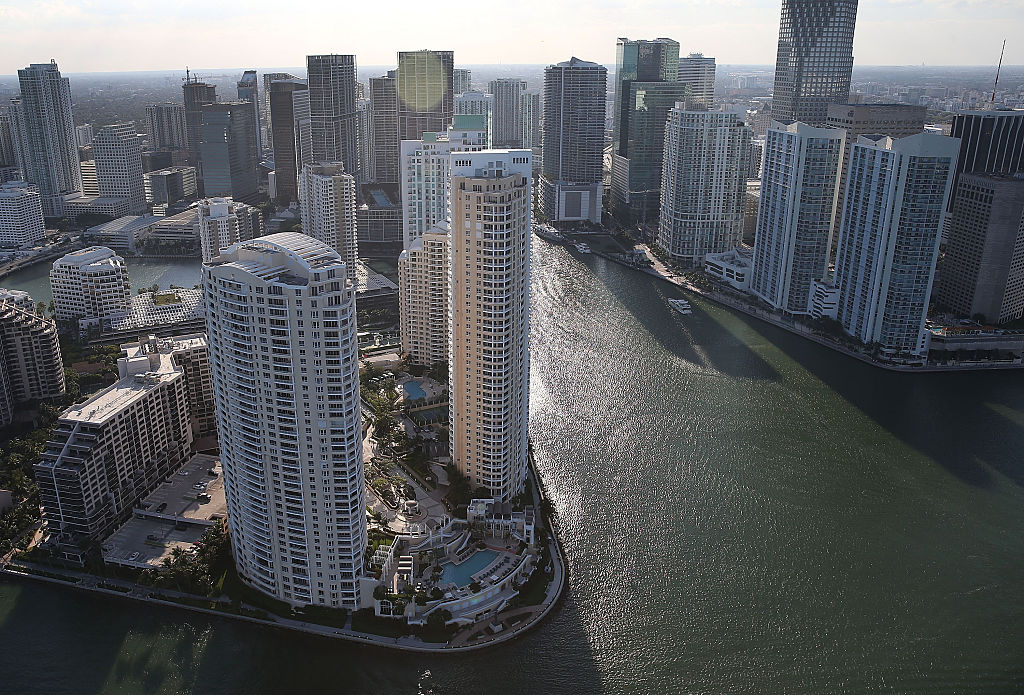 Condo buildings in Miami, Florida