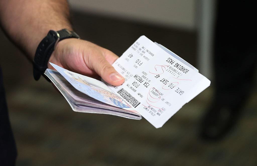passport and boarding pass