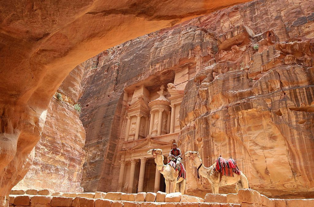 The Treasury in the ancient city of Petra in Jordan