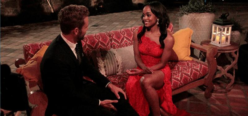 Rachel talking to Nick Viall The Bachelor.