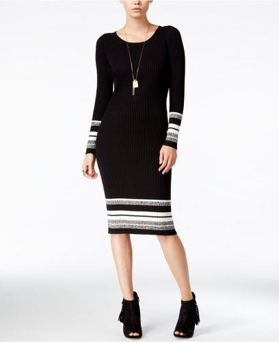 Bar III Striped Sweater Dress
