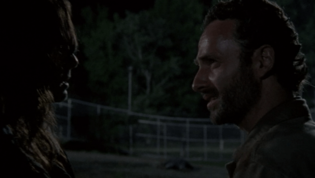 Rick arguing with Lori in a scene from 'The Walking Dead' episode 'Seed'
