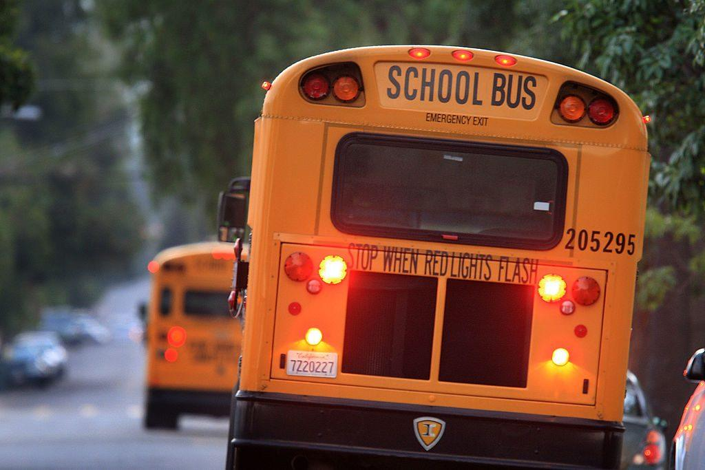 School bus in California