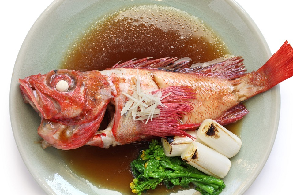 simmered kinki rockfish with sweetened soy sauce