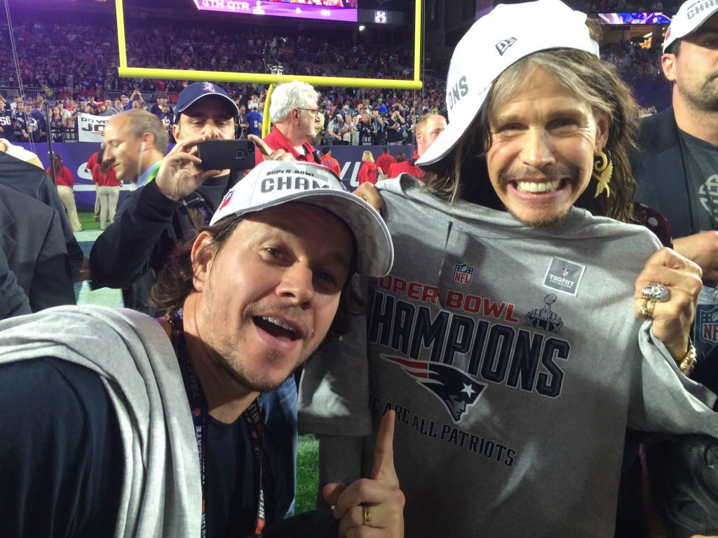 Steven Tyler and Mark Wahlberg