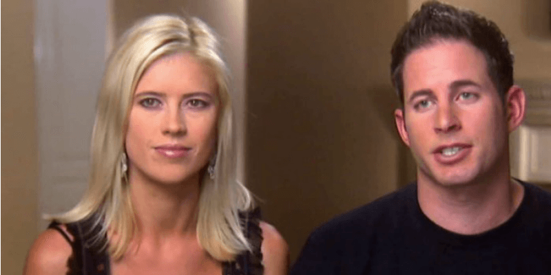 """Christina and Tarek El Moussa shoot a """"confessional""""-style moment for their show."""