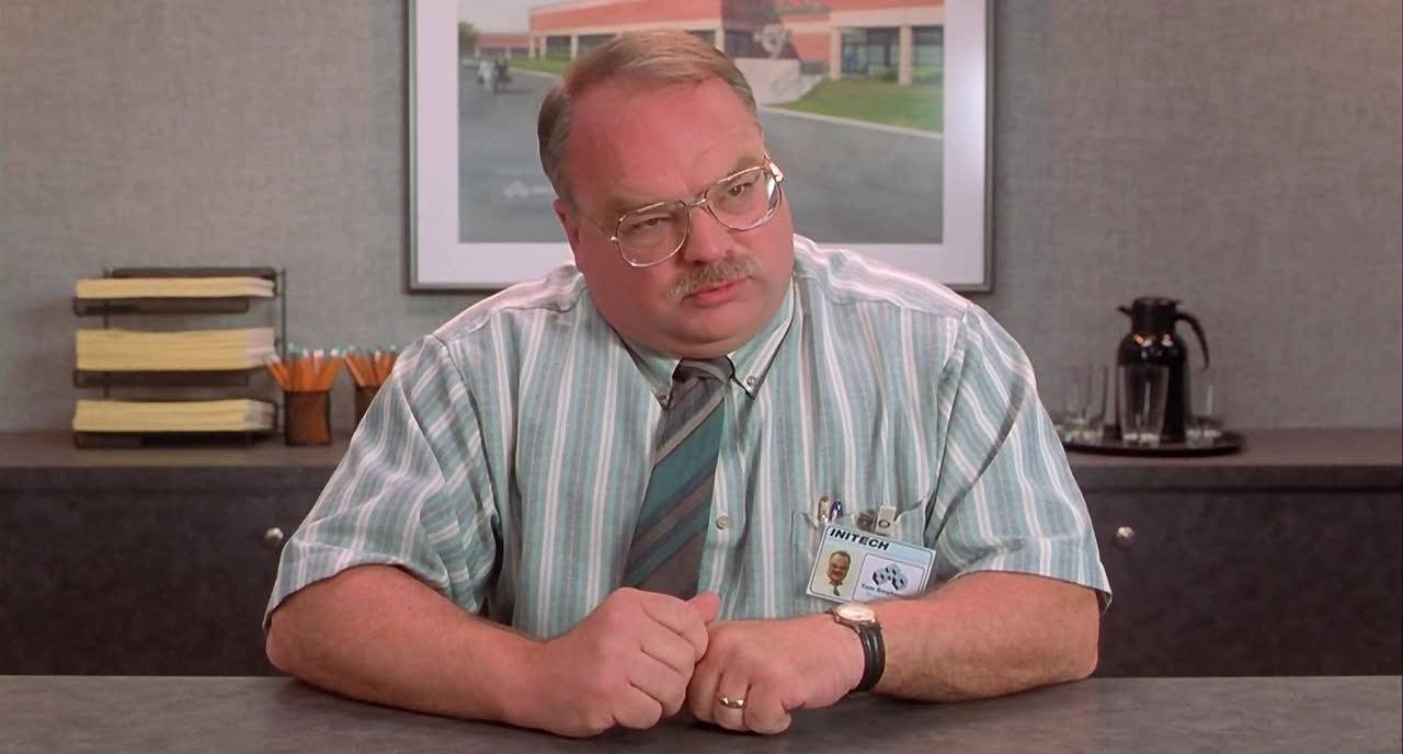 "Tom from ""Office Space"" comes to terms with the fact that his job skills, and job, are redundant"
