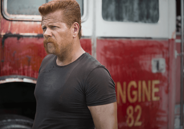 Abraham standing in front of a fire truck in 'The Walking Dead' episode 'Self-Help'