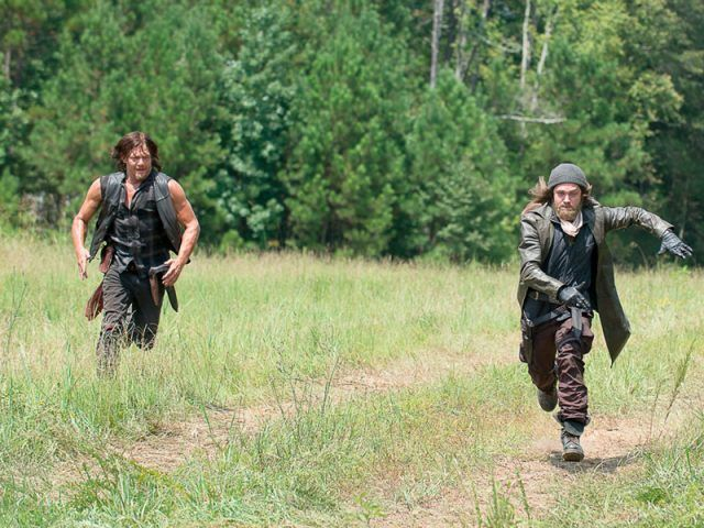 Daryl chases Jesus through a field in 'The Walking Dead' episode 'The Next World'