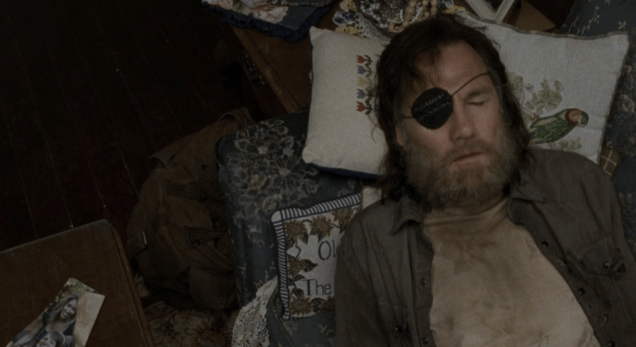 The Governor lays on a pillow