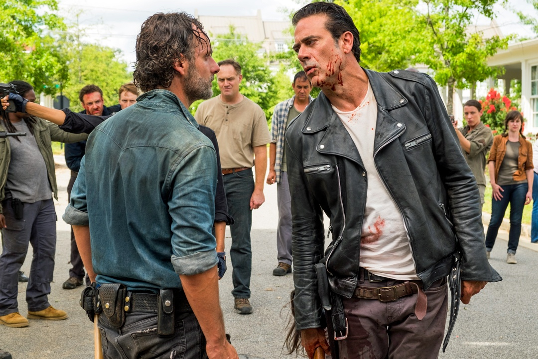 Rick and Negan on The Walking Dead
