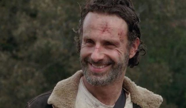 Rick smiling, for once, in Season 6 of 'The Walking Dead'