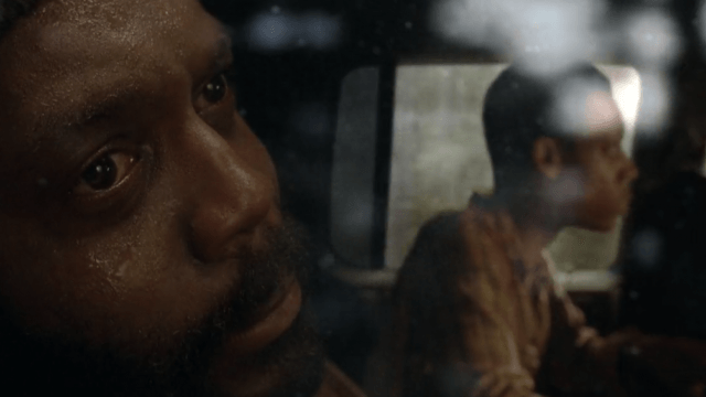 Tyreese stares out a car window in a scene from 'The Walking Dead'