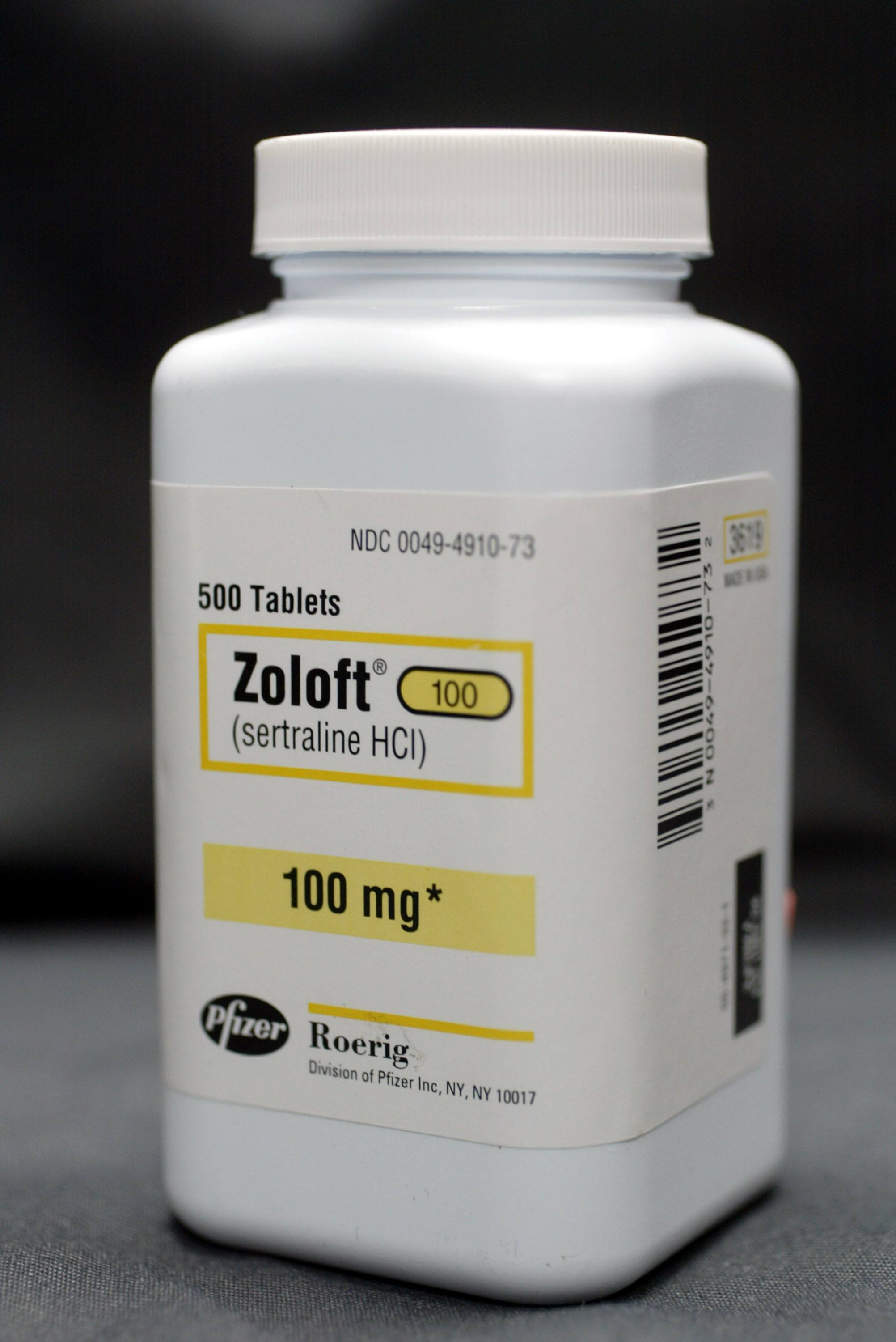 A bottle of Zoloft
