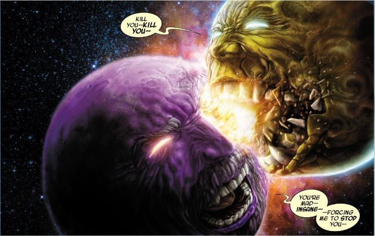 Ego the Living Planet fights Alter Ego