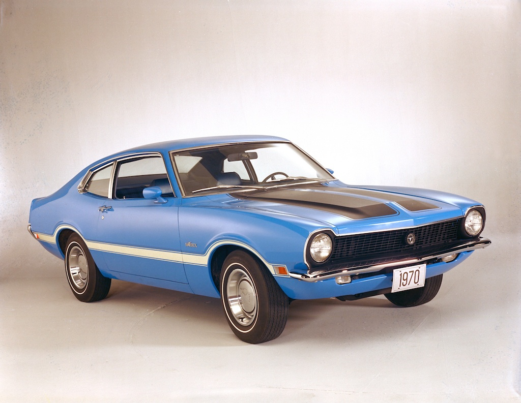 Blue 1970 Ford Maverick Grabber