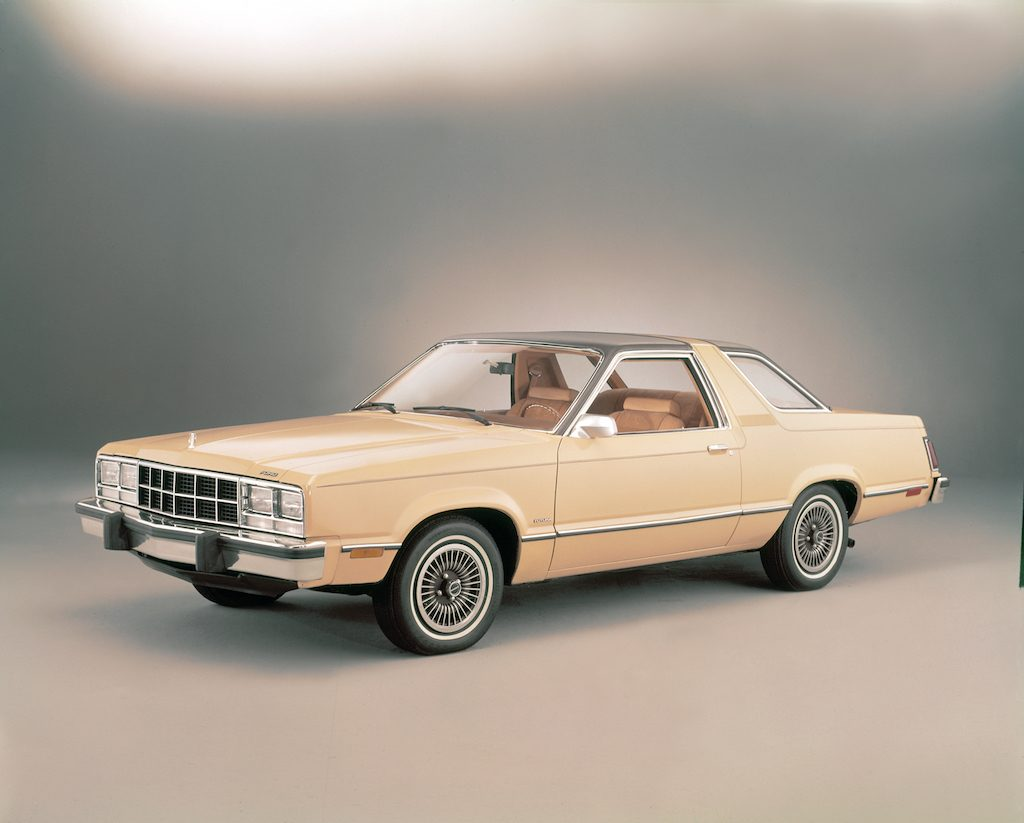 The 1978 Ford Fairmont Futura on display.