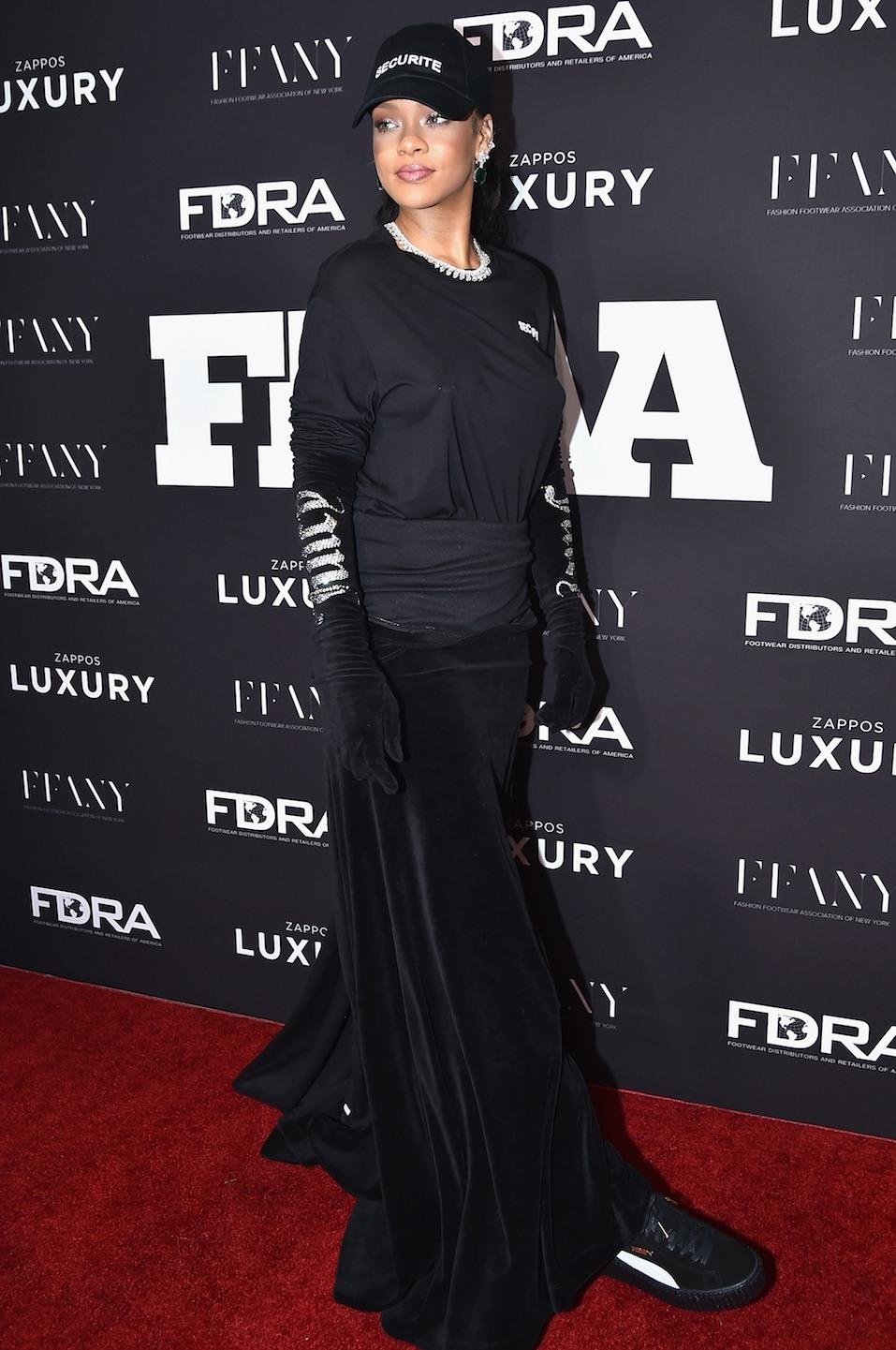Rihanna attends the 30th FN Achievement Awards at IAC Headquarters