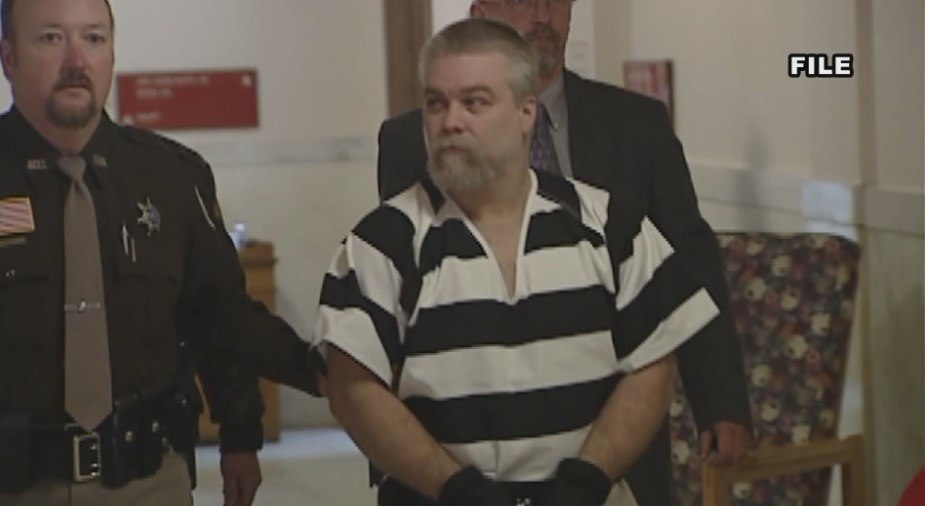 Steven Avery is escorted by guards in Netflix's Making a Murderer