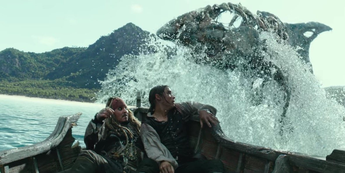 A CGI shark in the new Pirates of the Caribbean trailer