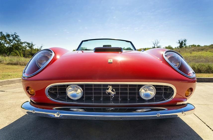 A red 1962 Ferrari 250 GT California Spyder