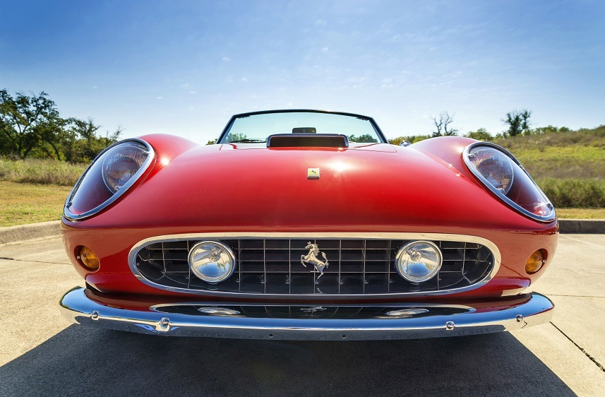 A red 1962 Ferrari 250 GT California Spyder