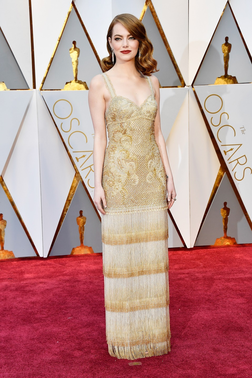 Actor Emma Stone attends the 89th Annual Academy Awards