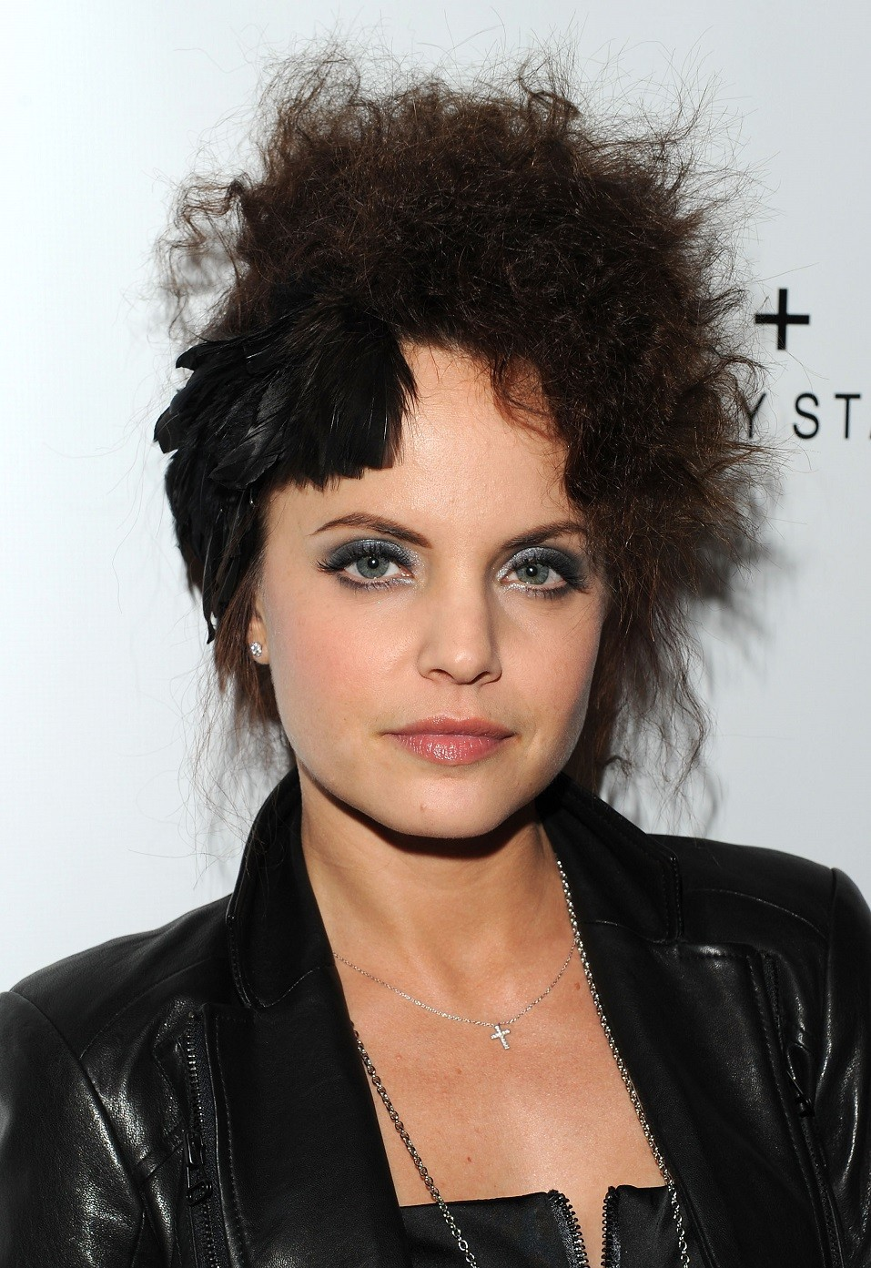Actress Mena Suvari at the alice + olivia Fashion Week presentation