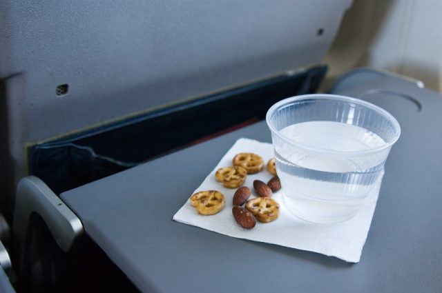 Food and water in airplane