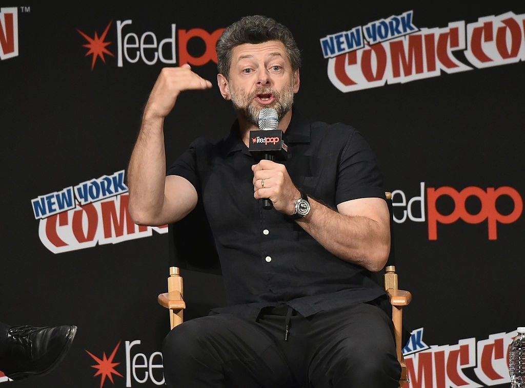 Andy Serkis speaking at the New York Comic Con
