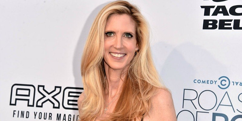 Ann Coulter is smiling on the red carpet.