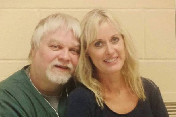 Steven Avery poses with former finance Lynn Hartman