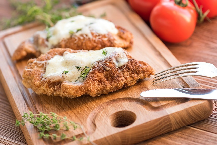 Baked chicken breast with parmesan