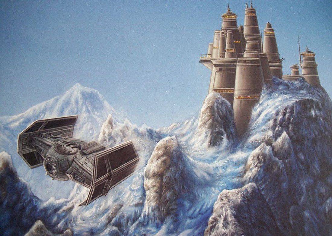 Bast Castle artwork from Ralph McQuarrie