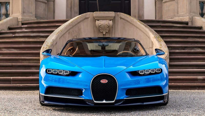 front view of bugatti chiron