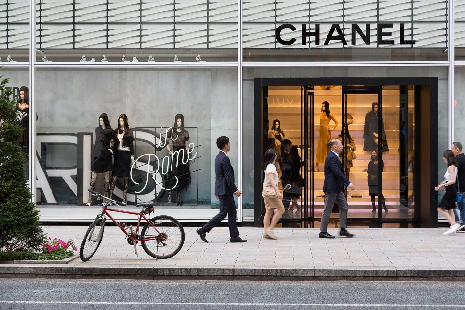 Chanel in the expensive shopping district of Ginza