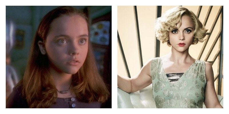 On the left is a picture of Chrisitina Ricci with Casper in Casper. On the right is a picture of Christina Ricci as Zela in Z: The Beginning of Everything.