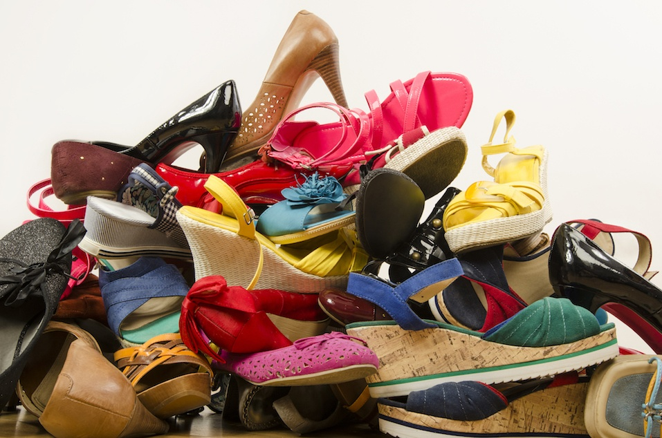 Stack of shoes