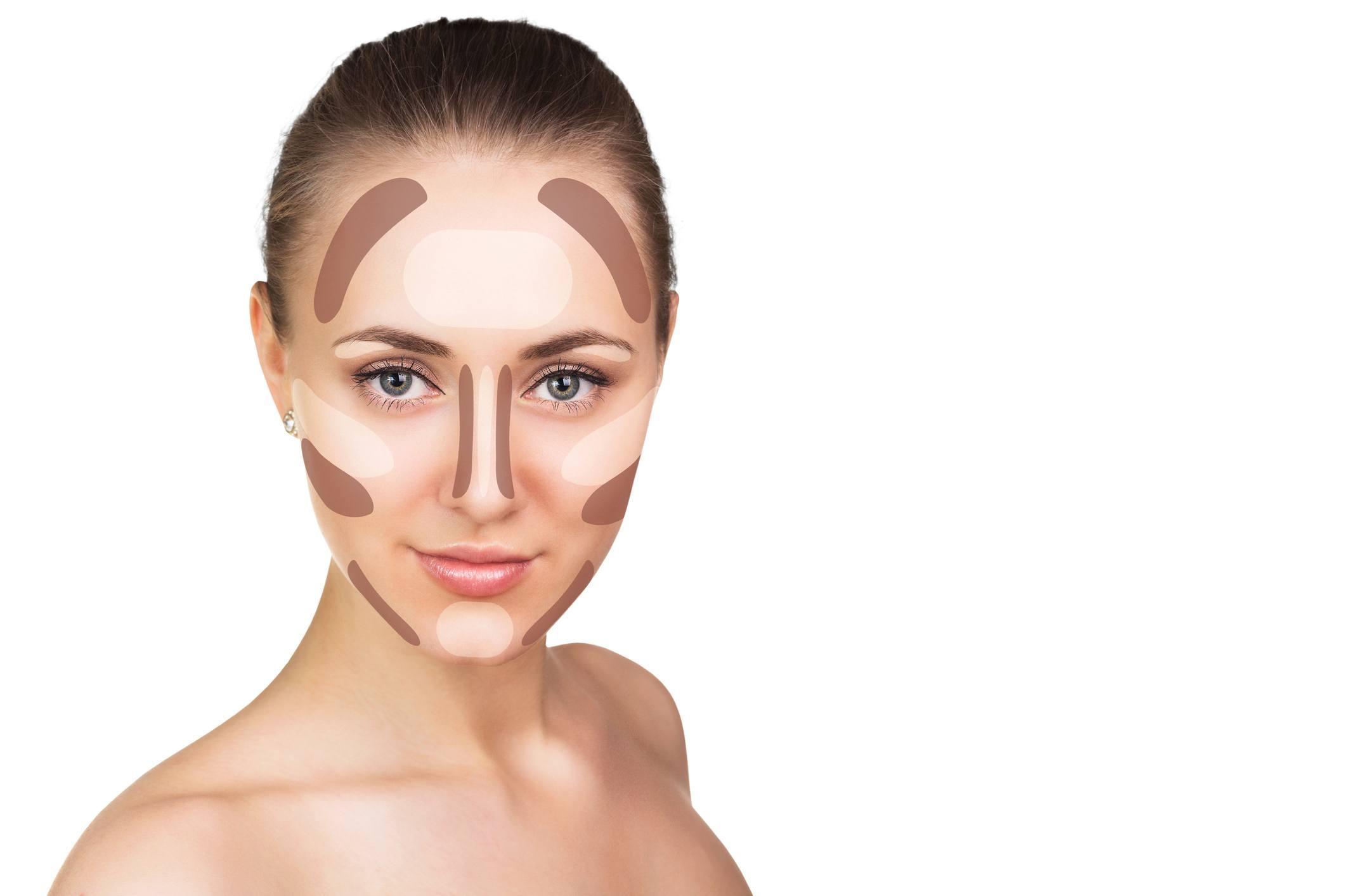 Contour and highlight makeup